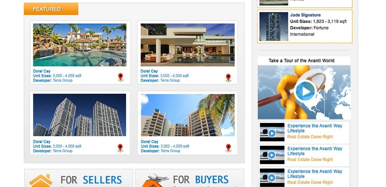 Avanti Way old website